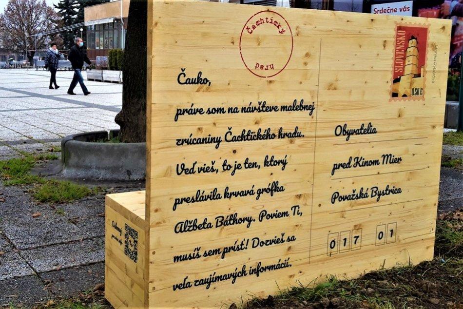 OBRAZOM: Lavičková pohľadnica v Považskej Bystrici