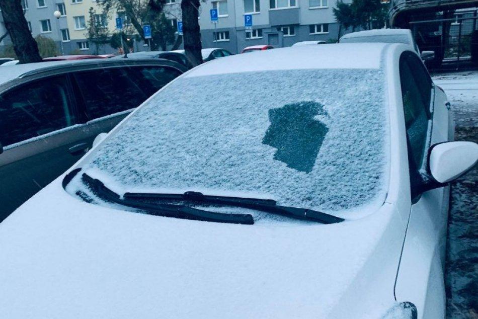 Prvý sneh v Bratislave (3. 12. 2020)