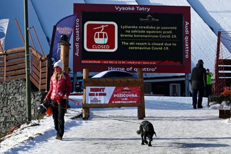 Smutné zábery zjazdovky v Tatranskej Lomnici