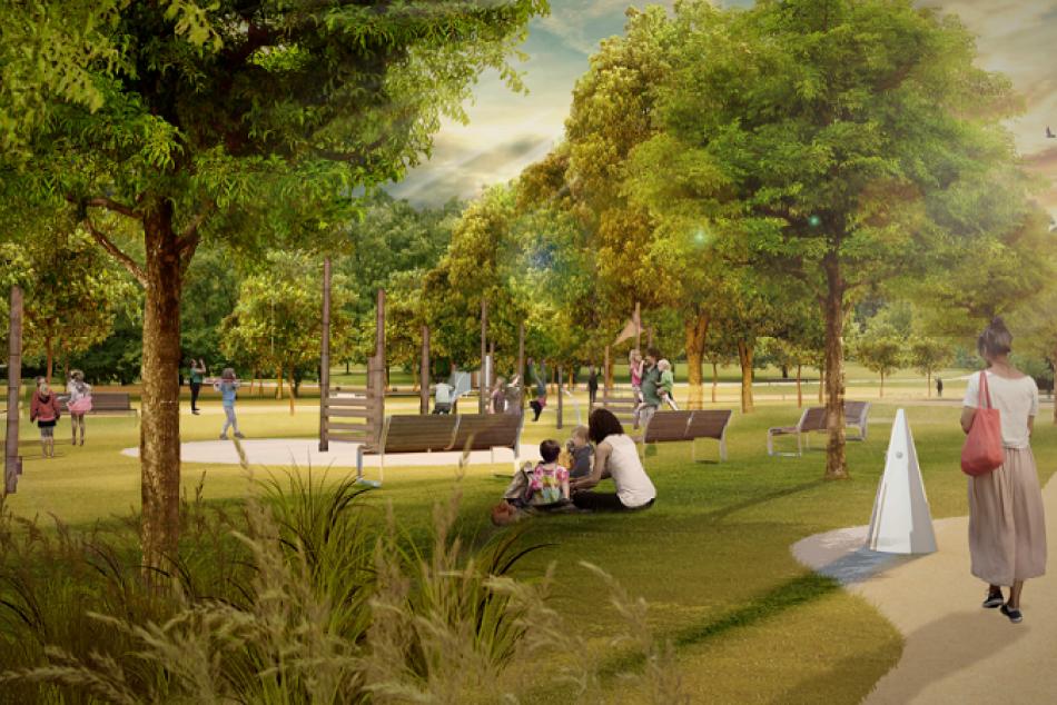Obrazom: Vizualizácie parku Vlada Clementisa v Prešove
