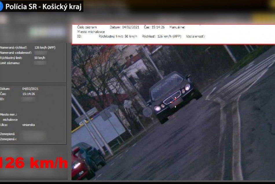 Obrazom z Vinianskej cesty: Rýchlosť vodičov zachytili policajti