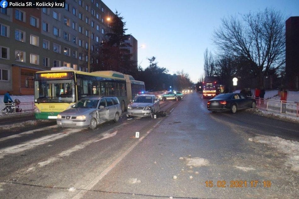 Hromadná nehoda v Košiciach