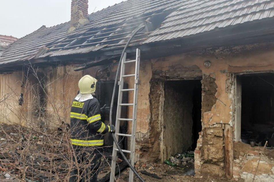 Požiar opusteného domu v Mlynárciach