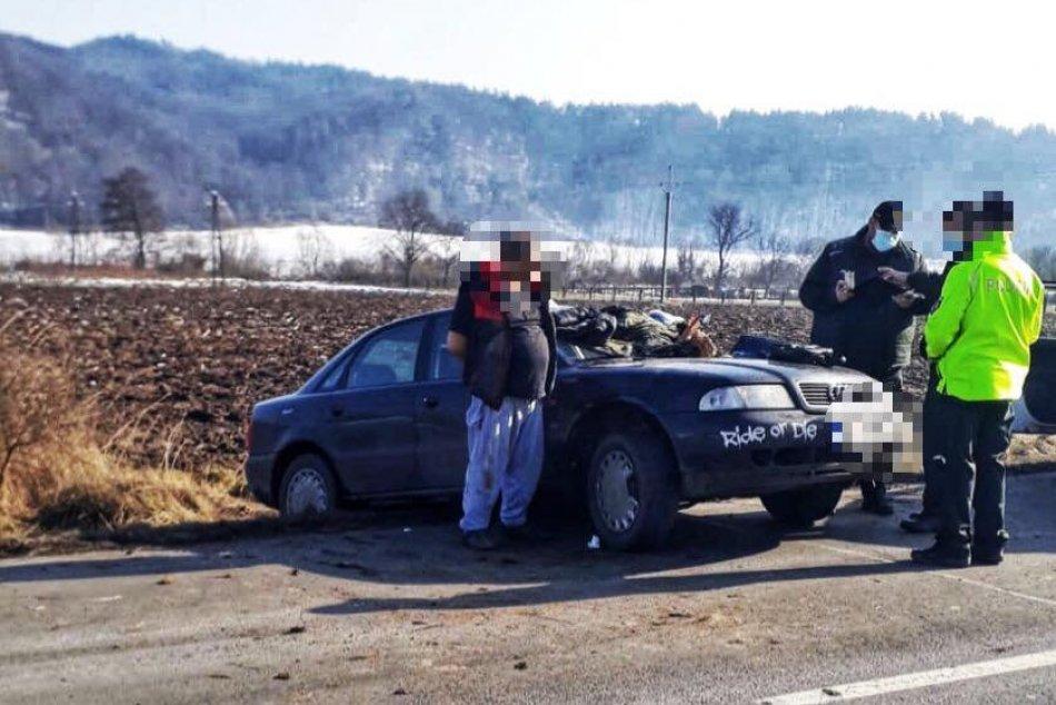 V OBRAZOCH: Policajti zadržali hľadaného muža, zaznel aj výstrel