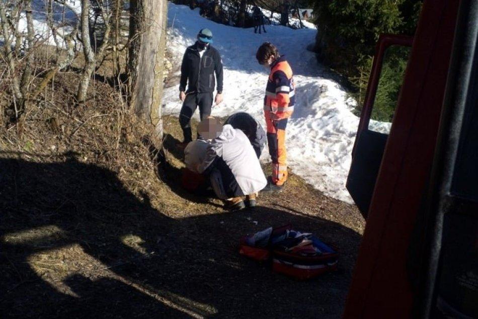 V OBRAZOCH: Na Donovaloch záchranári ratovali turistku