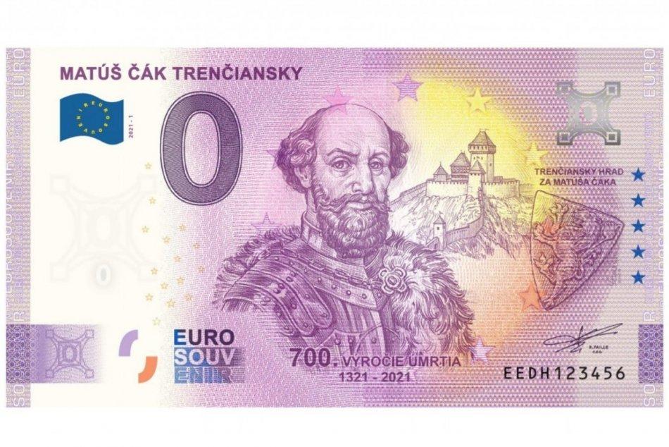 Trenčianske múzeum vydalo suvenírovú eurobankovku s podobizňou Matúša Čáka