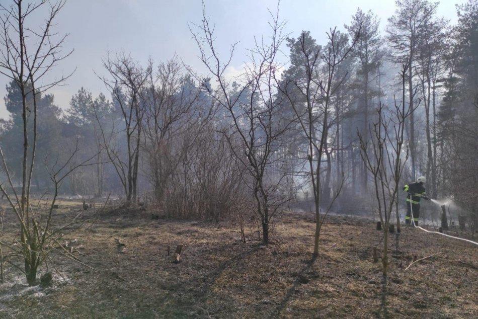 Požiar v katastri obce Mužla