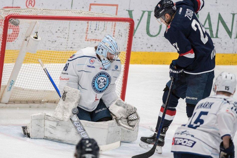 OBRAZOM: Slovan Bratislava - HK Nitra 5:0 v 1. štvrťfinále