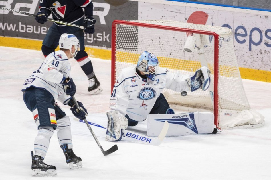 OBRAZOM: Slovan Bratislava - HK Nitra 5:1 v 5. zápase štvrťfinále