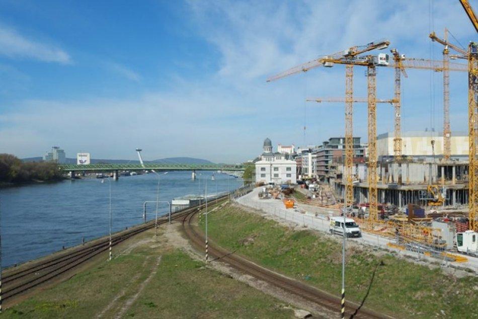 Stavba Eurovea II, apríl 2021