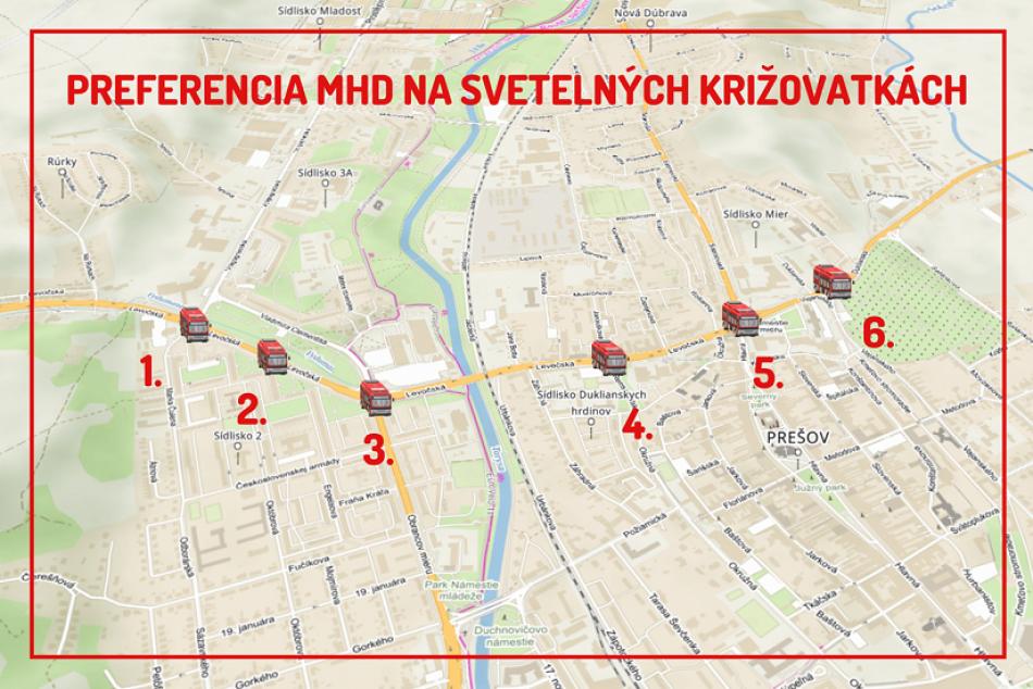Obrazom: Preferencia MHD na prešovských križovatkách