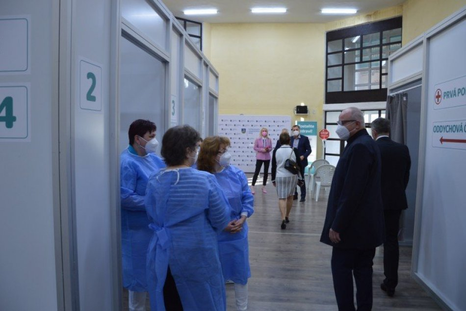 Vakcinačné centrum v Šali