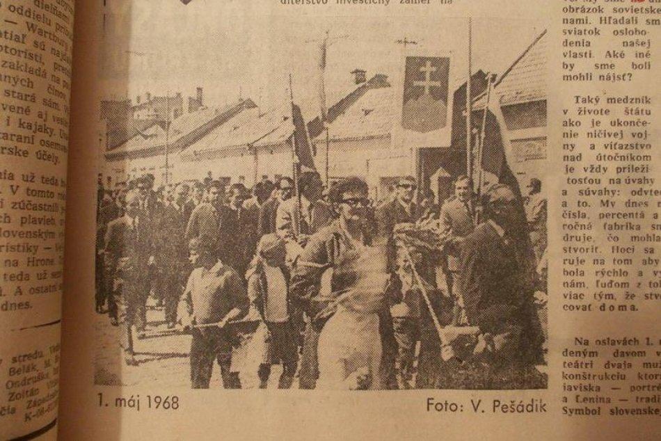 Prvomájové oslavy v Šali na RETRO fotografiách