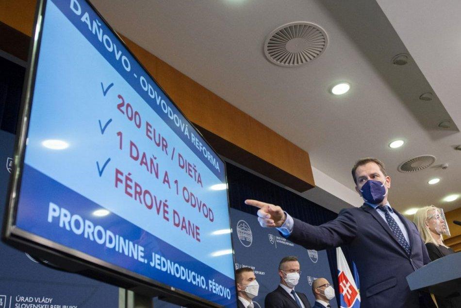 Igor Matovič predstavil daňovú a odvodovú reformu