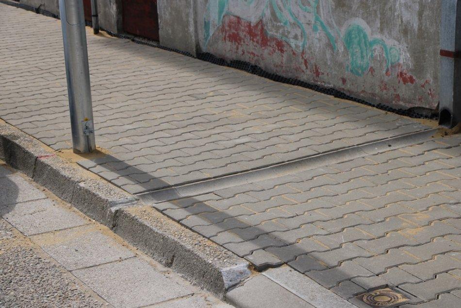 Vynovený chodník na Banskobystrickej ulici