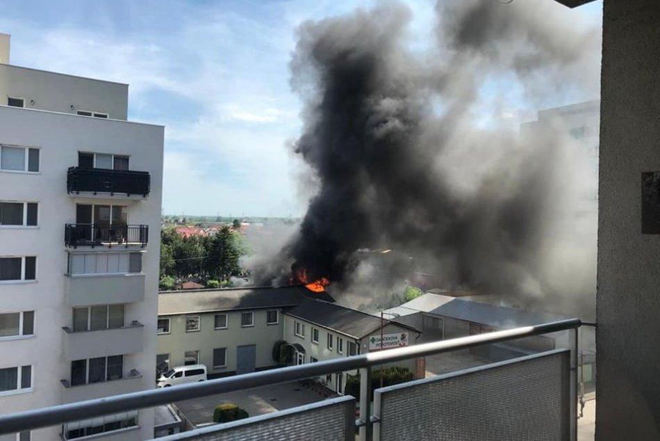 Požiar na Kazanskej ulici vo Vrakuni