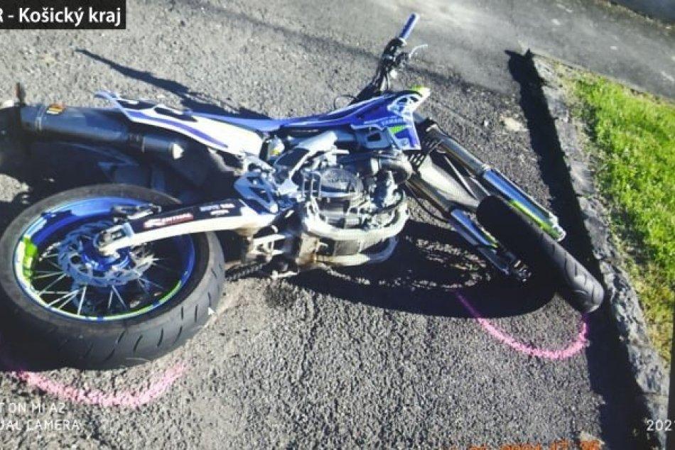 Nehoda motorkára a Michalovčana