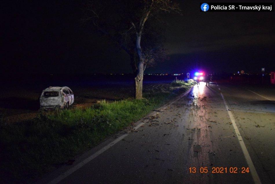 Nočná nehoda za Trnavou