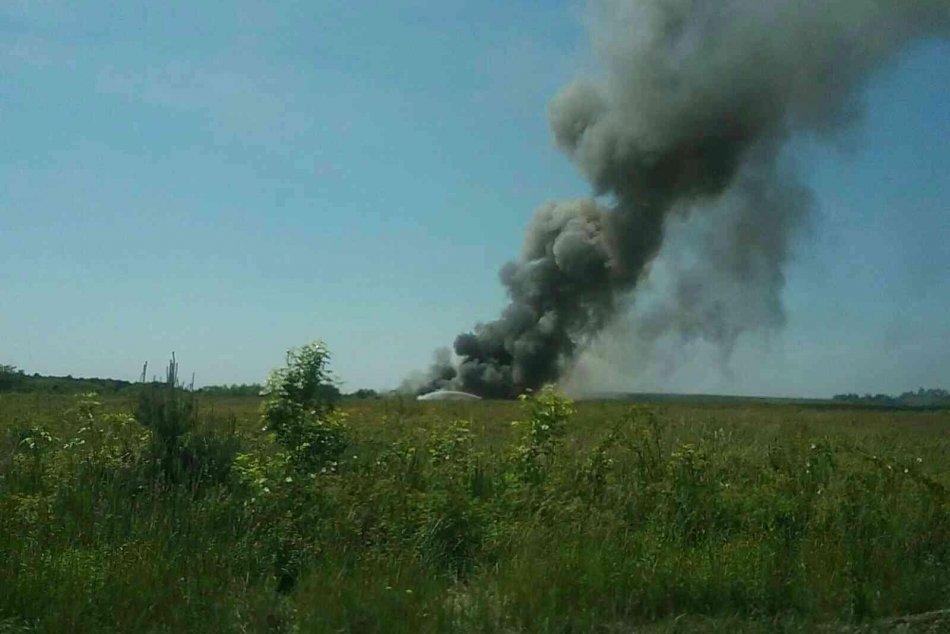 Požiar skládky v Budmericiach