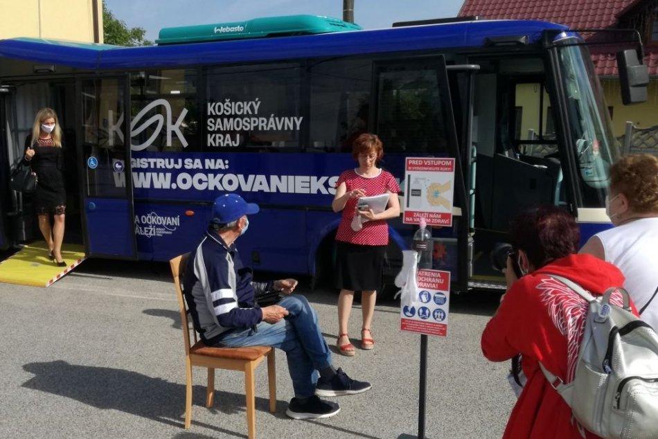 Očkovací autobus Košického kraja