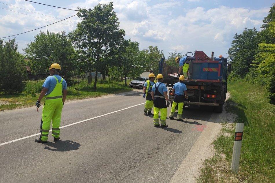 FOTO: Kraj začal rekonštruovať úsek cesty II/581 Nové Mesto nad Váhom – Myjava