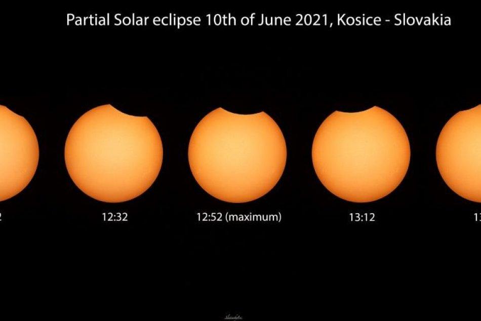 Zábery čiastočného zatmenia Slnka