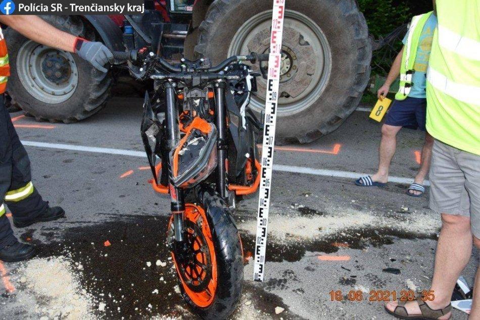 FOTO: Tragická dopravná nehoda si vyžiadala život 35-ročného motocyklistu