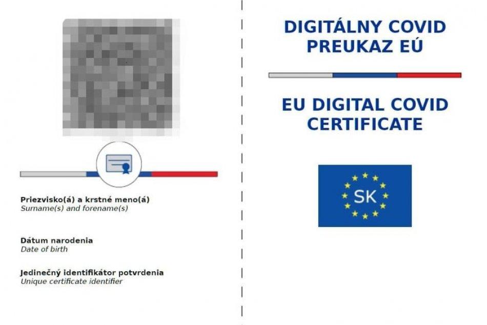 Digitálny covid preukaz