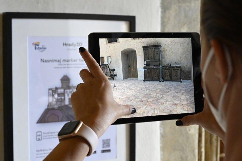 FOTO: Bezplatná aplikácia Hrady 3D pre návštevníkov Trenčianskeho hradu