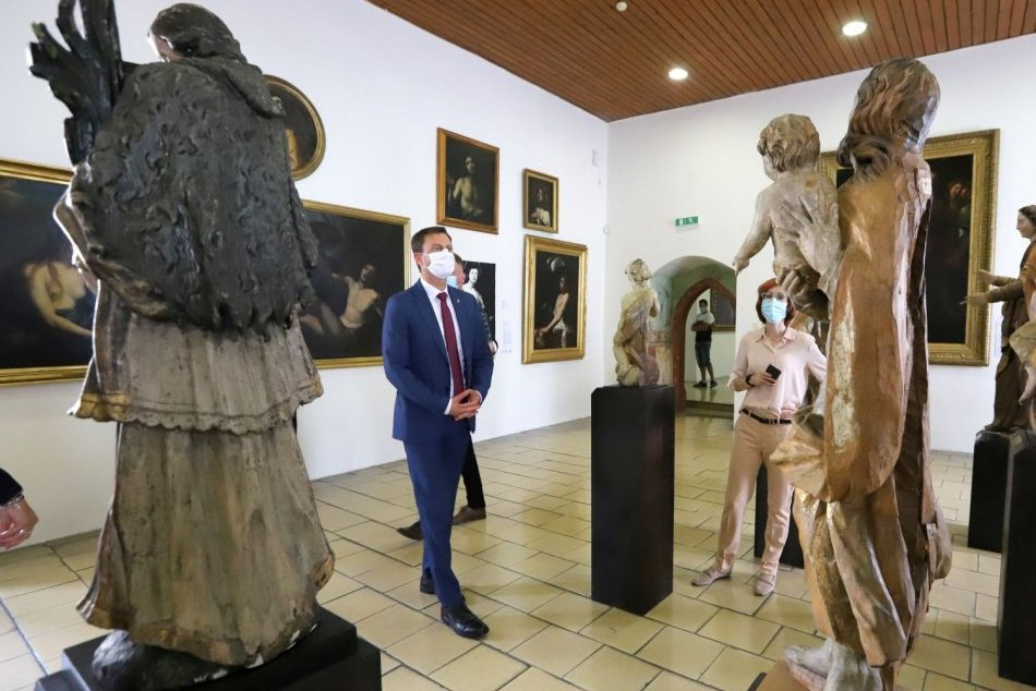 Premiér Eduard Heger na návšteve Zvolenského zámku