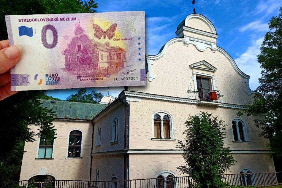 V OBRAZOCH: Suvenírová bankovka s motívom Tihányiovského kaštieľa