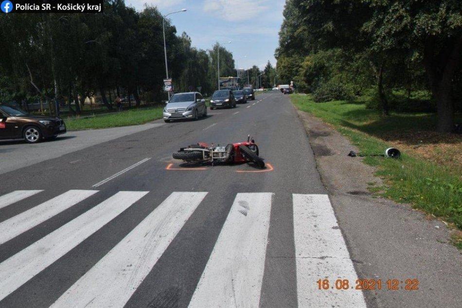 Nehoda motorkára v Michalovciach na FOTKÁCH