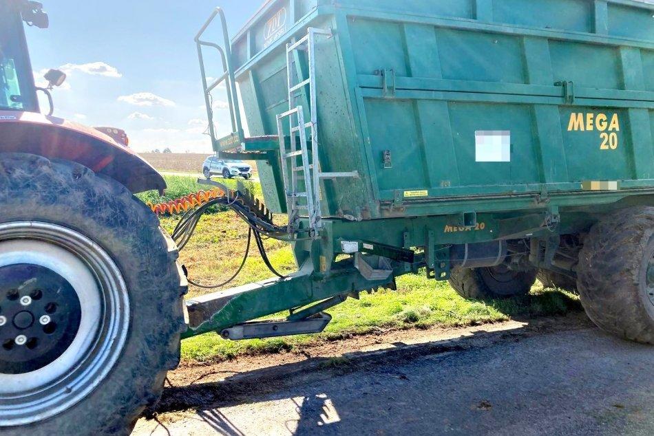 Motocyklista neprežil zrážku s traktorom