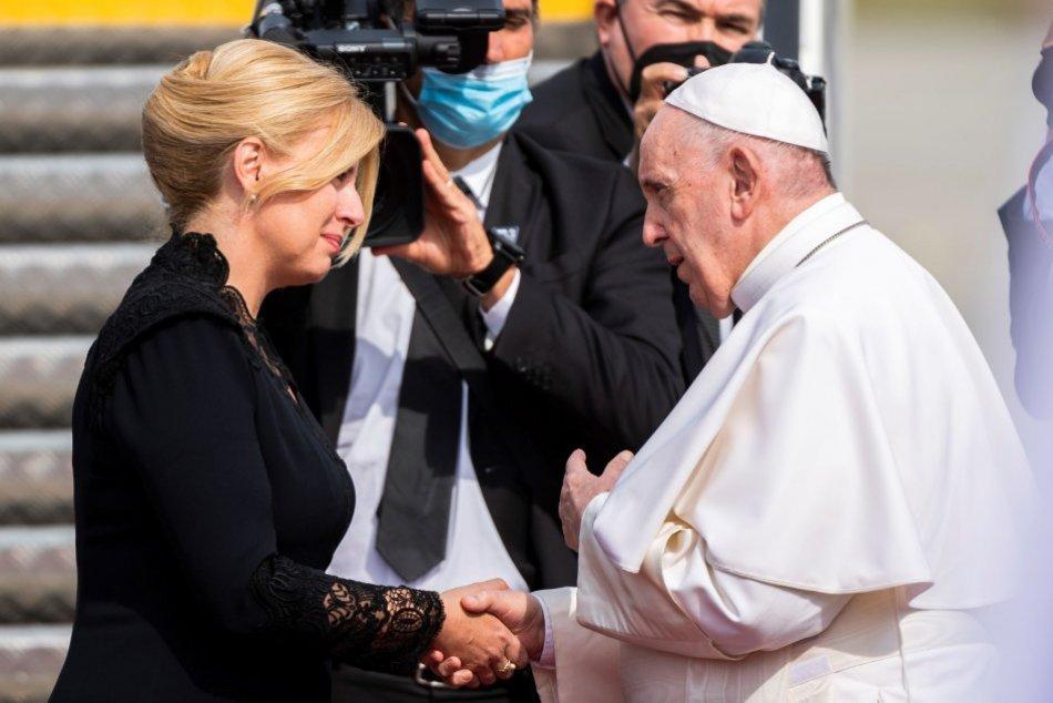 Rozlúčka pápeža s Čaputovou