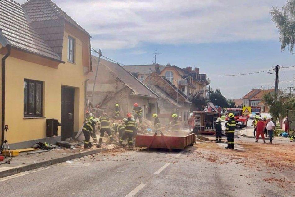 Výbuch plynu v dome v okrese českého mesta Kroměříž v Zlínskom kraji