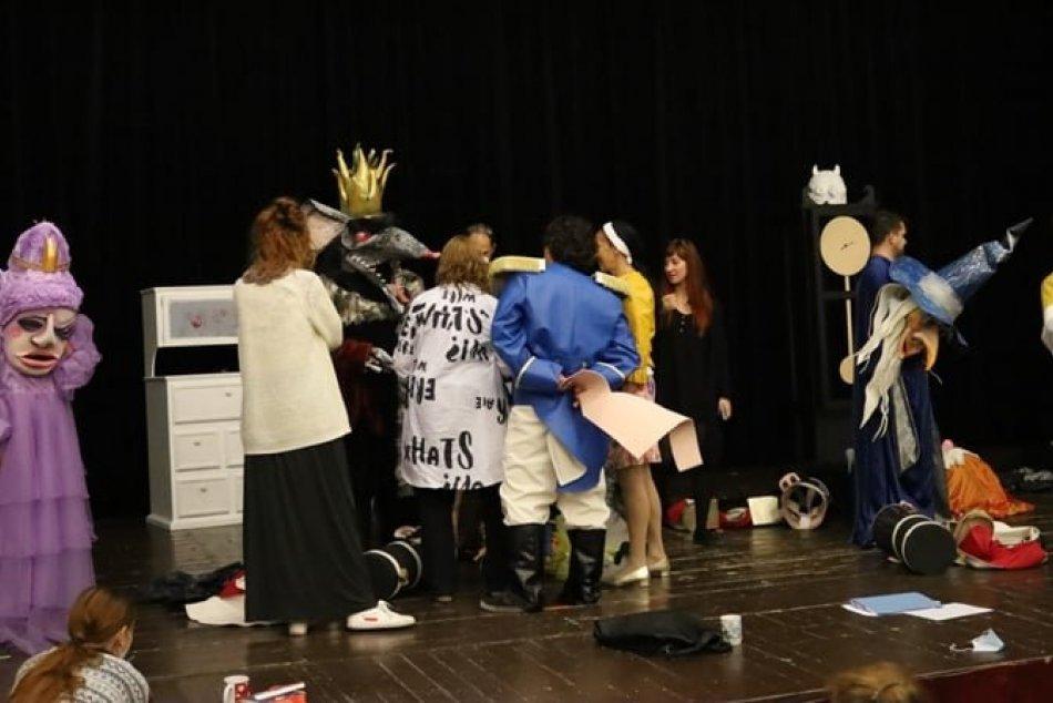 Luskáčik - prvá čítacia skúška v Starom divadle Karola Spišáka v Nitre
