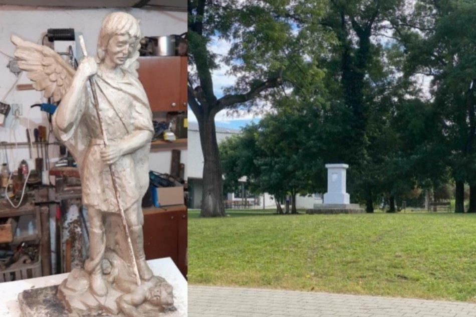 V Šali osadia sochu patróna Mestskej polície