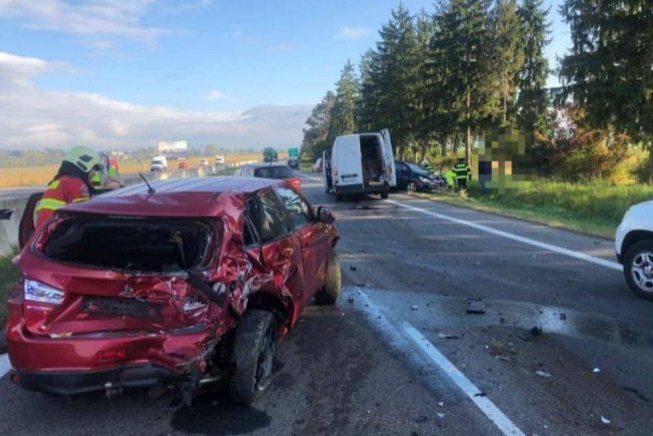 Objektívom: Nehoda na diaľnici medzi Zvolenom a B. Bystricou