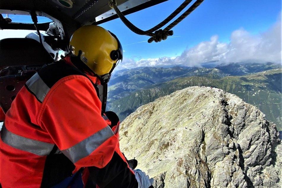 Zásah leteckých záchranárov pod Kriváňom a v Poprade