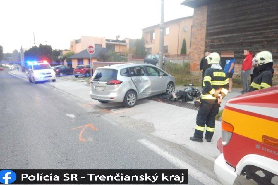 FOTO: Nehoda vo Sverepci, zranila sa 18-ročná motocyklistka