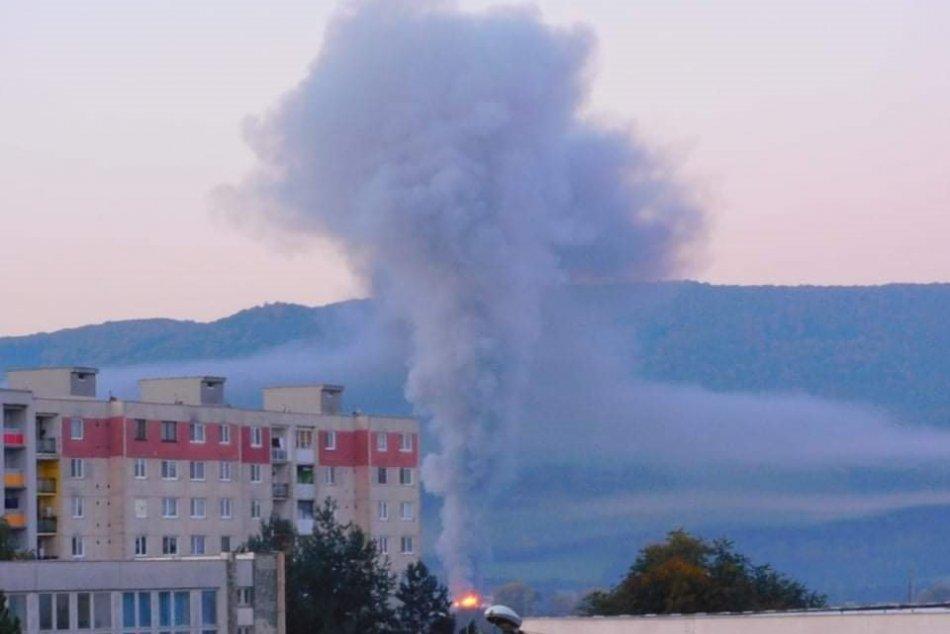 Požiar výrobnej haly v Jasenove