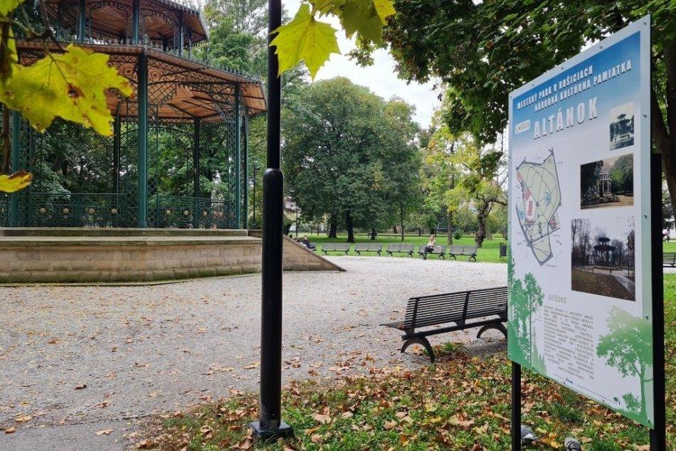 Informačné tabule v Mestskom parku
