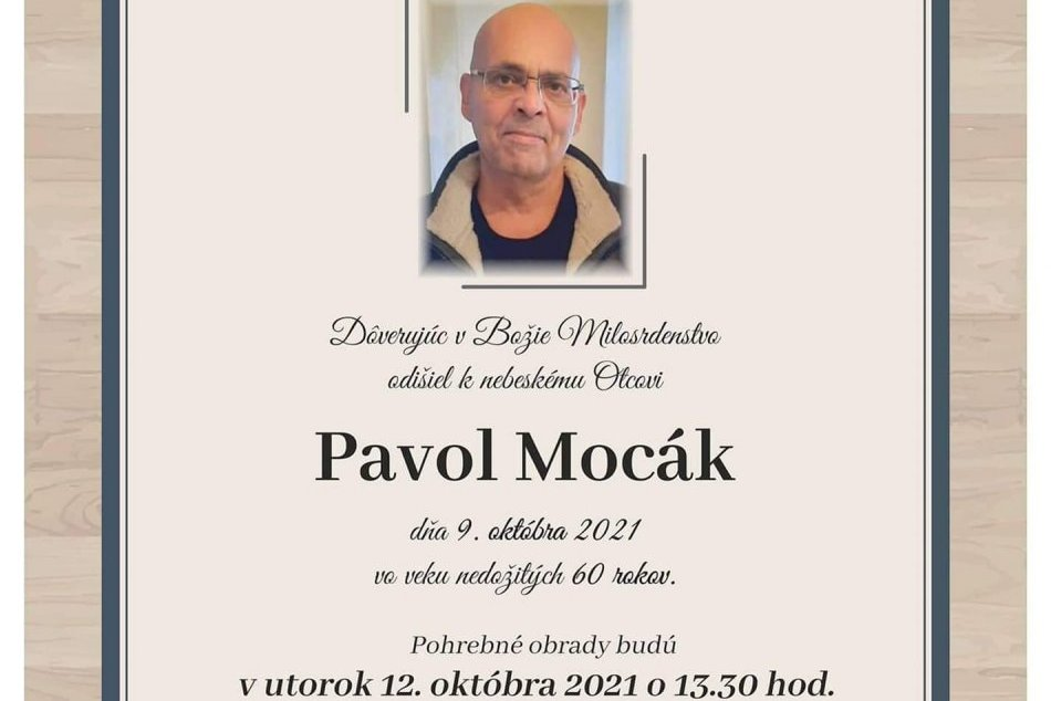 Marián Čekovský pochoval svojho otca v Michalovciach