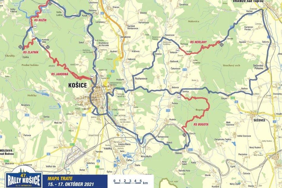 Informácia o uzávierkach ciest počas 47. ročníka Rally Košice