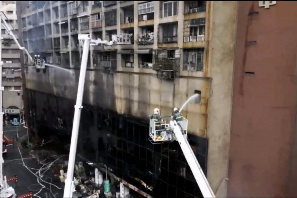 Incendio en un edificio residencial en Taiwán